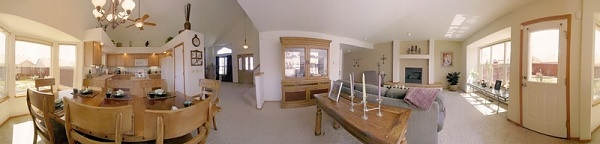 Wide open main level pano