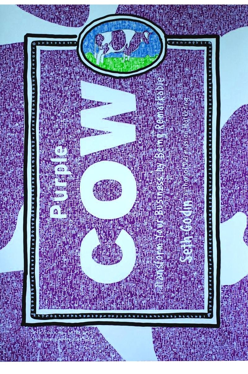 Purple cow totem