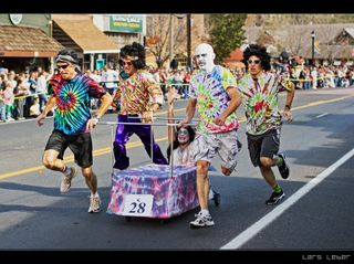 Tie Dye coffin Racers